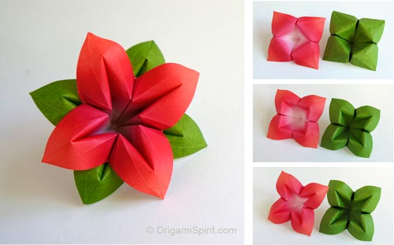 How to Make an Origami Flower and Leaves post image
