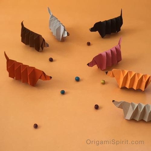 Origami Dogs by Steven Casey - Design Milk | 500x500